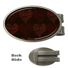 Heart Seamless Background Figure Money Clips (oval)
