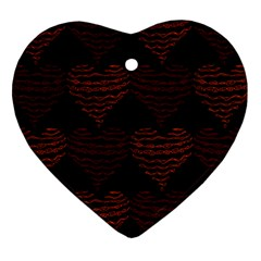 Heart Seamless Background Figure Heart Ornament (two Sides)