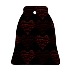 Heart Seamless Background Figure Bell Ornament (two Sides)