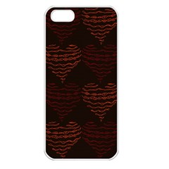Heart Seamless Background Figure Apple Iphone 5 Seamless Case (white)