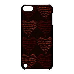 Heart Seamless Background Figure Apple Ipod Touch 5 Hardshell Case With Stand