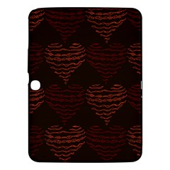 Heart Seamless Background Figure Samsung Galaxy Tab 3 (10 1 ) P5200 Hardshell Case