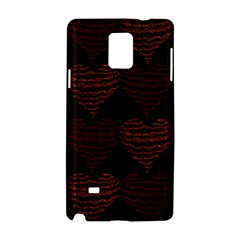 Heart Seamless Background Figure Samsung Galaxy Note 4 Hardshell Case