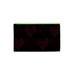 Heart Seamless Background Figure Cosmetic Bag (xs)