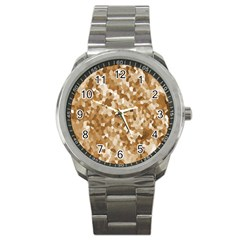 Texture Background Backdrop Brown Sport Metal Watch