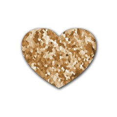 Texture Background Backdrop Brown Heart Coaster (4 Pack)