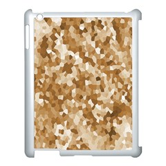 Texture Background Backdrop Brown Apple Ipad 3/4 Case (white)