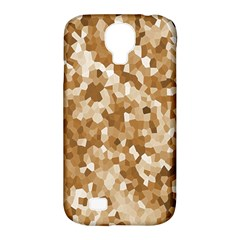 Texture Background Backdrop Brown Samsung Galaxy S4 Classic Hardshell Case (pc+silicone)