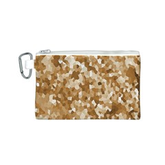 Texture Background Backdrop Brown Canvas Cosmetic Bag (s)