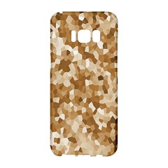 Texture Background Backdrop Brown Samsung Galaxy S8 Hardshell Case