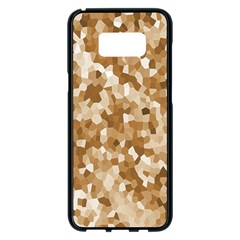 Texture Background Backdrop Brown Samsung Galaxy S8 Plus Black Seamless Case
