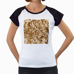 Texture Background Backdrop Brown Women s Cap Sleeve T