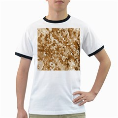 Texture Background Backdrop Brown Ringer T Shirts