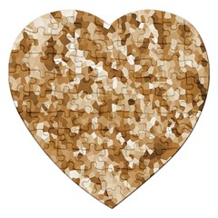 Texture Background Backdrop Brown Jigsaw Puzzle (heart)
