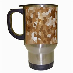 Texture Background Backdrop Brown Travel Mugs (white)