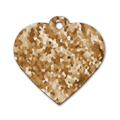 Texture Background Backdrop Brown Dog Tag Heart (one Side)