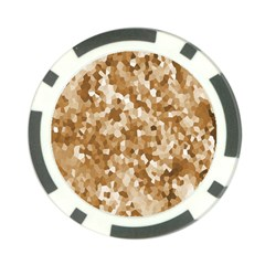 Texture Background Backdrop Brown Poker Chip Card Guard (10 Pack)