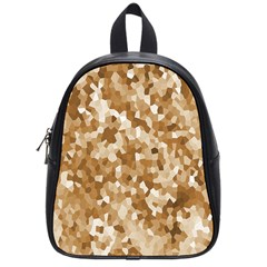 Texture Background Backdrop Brown School Bag (small)