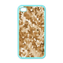 Texture Background Backdrop Brown Apple Iphone 4 Case (color)