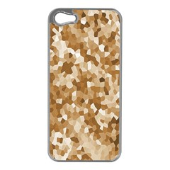 Texture Background Backdrop Brown Apple Iphone 5 Case (silver)