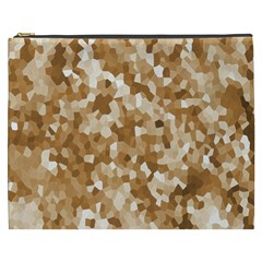 Texture Background Backdrop Brown Cosmetic Bag (xxxl)