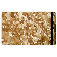 Texture Background Backdrop Brown Apple Ipad 3/4 Flip Case