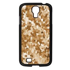 Texture Background Backdrop Brown Samsung Galaxy S4 I9500/ I9505 Case (black)