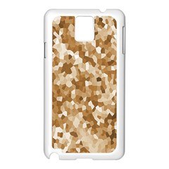 Texture Background Backdrop Brown Samsung Galaxy Note 3 N9005 Case (white)