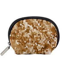 Texture Background Backdrop Brown Accessory Pouches (small)