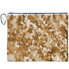 Texture Background Backdrop Brown Canvas Cosmetic Bag (xxxl)