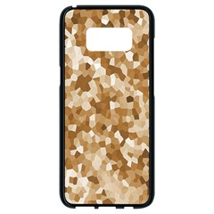 Texture Background Backdrop Brown Samsung Galaxy S8 Black Seamless Case