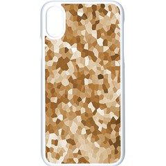 Texture Background Backdrop Brown Apple Iphone X Seamless Case (white)