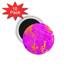 Spring Tropical Floral Palm Bird 1 75  Magnets (10 Pack)