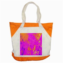 Spring Tropical Floral Palm Bird Accent Tote Bag