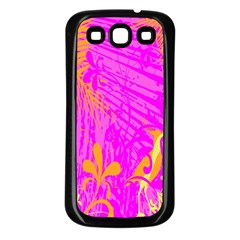 Spring Tropical Floral Palm Bird Samsung Galaxy S3 Back Case (black)