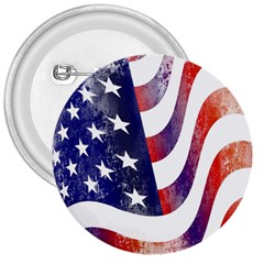 Usa Flag America American 3  Buttons