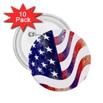 Usa Flag America American 2.25  Buttons (10 pack)  Front