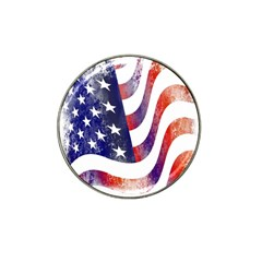 Usa Flag America American Hat Clip Ball Marker (4 Pack)