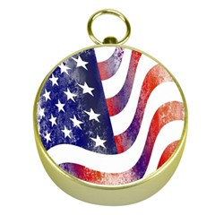 Usa Flag America American Gold Compasses