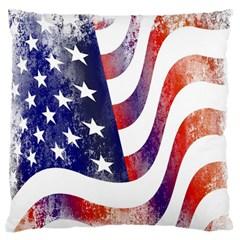 Usa Flag America American Standard Flano Cushion Case (two Sides)