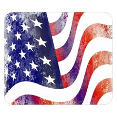 Usa Flag America American Double Sided Flano Blanket (small)