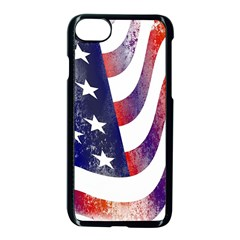 Usa Flag America American Apple Iphone 8 Seamless Case (black)