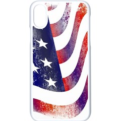 Usa Flag America American Apple Iphone X Seamless Case (white)