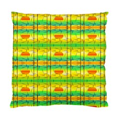 Birds Beach Sun Abstract Pattern Standard Cushion Case (one Side)