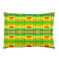 Birds Beach Sun Abstract Pattern Pillow Case