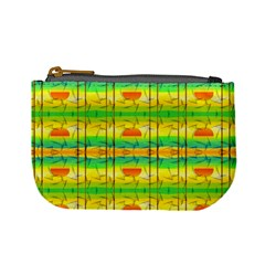 Birds Beach Sun Abstract Pattern Mini Coin Purses