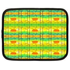 Birds Beach Sun Abstract Pattern Netbook Case (xl)