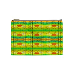 Birds Beach Sun Abstract Pattern Cosmetic Bag (medium)