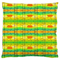 Birds Beach Sun Abstract Pattern Large Cushion Case (two Sides)