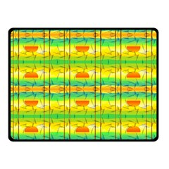 Birds Beach Sun Abstract Pattern Double Sided Fleece Blanket (small)